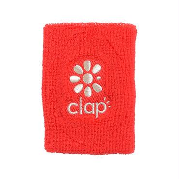 (CLAP)  WRIST  BAND レッド/シルバー
