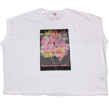 WHPH  FLOWERS  SLEVELESS  WIDE  Tee ホワイト