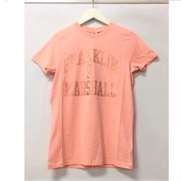(FRANKLIN&MARSHALL)  クラッシックフィットラメロゴTシャツ ピーチ