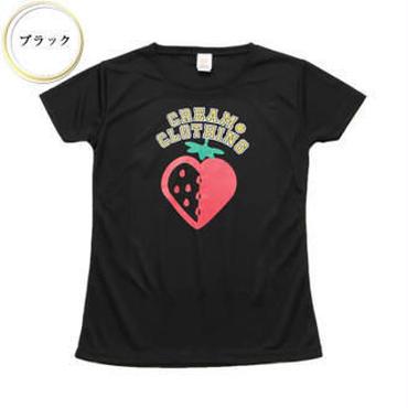 (CREAM  CLOTHING)  ストロベリーハート ドライTee ブラック