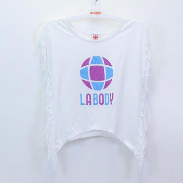 (LA  BODY)  フリンジ Tシャツ  ホワイト