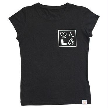 (Marble)  ちびTシャツ ブラック