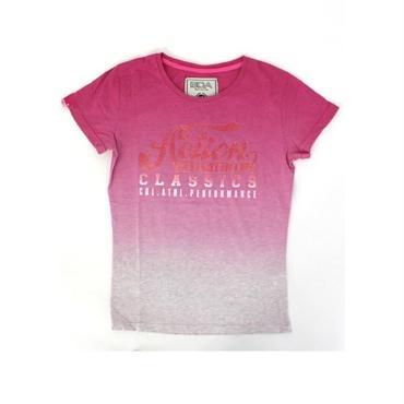 (BODY  ACTION)    グラデーションラメロゴTシャツ ピンク