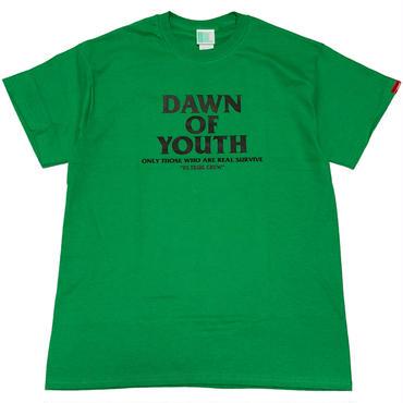 DAWN  OF  YOUTH  Tee アイリッシュグリーン/ブラック