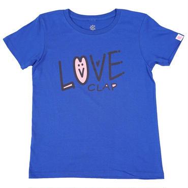 (CLAP)  HO-LOVE  Tee  ブルー
