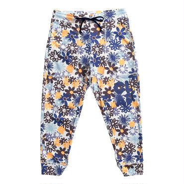 (CLAP)  M-FLOWER  CROPPED PANTS ブルー
