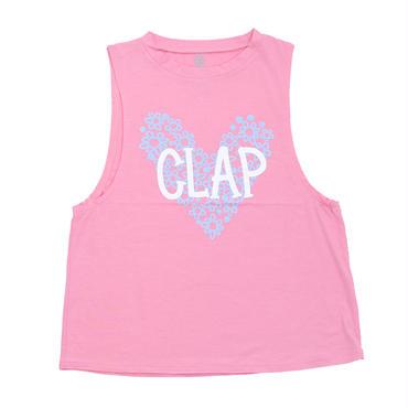 (CLAP)  CF-HEART  SLEEVELESS ピンク