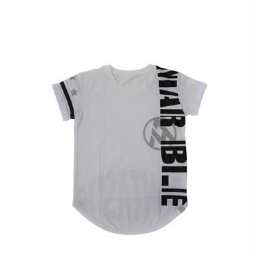 (Marble) ラウンドTシャツ ホワイト