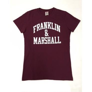 (FRANKLIN&MARSHALL)  アーチロゴTシャツ ワイン