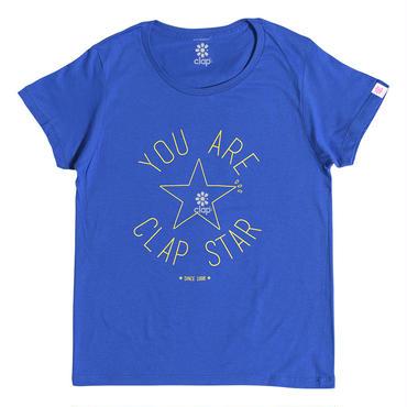 (CLAP)  CLAP  STAR  Tee ブルー
