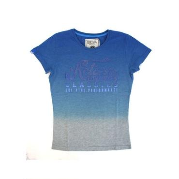 (BODY  ACTION)  グラデーションラメロゴTシャツ ブルー