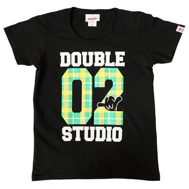 (Wstudio)  CHECK  LOGO  Tee ブラック
