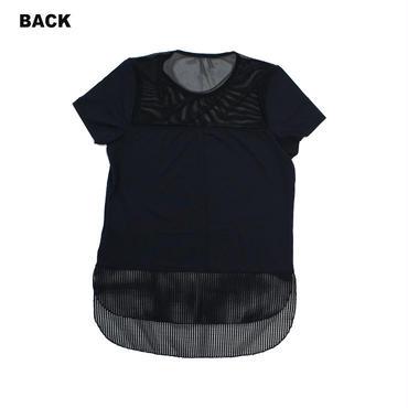 (ROLA MOCA) メッシュ コンビネーション Tシャツ BLACK Mサイズ