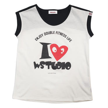 (Wstudio)  I  LOVE  WST  BACK  Tee ホワイト