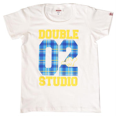 (Wstudio)  CHECK  LOGO  Tee ホワイト