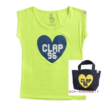 (CLAP)  B-HEART  STRETCH  Tee+MINI  TOTE 蛍光イエロー