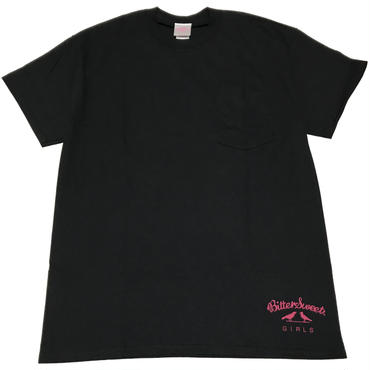 BSG  WORLD  WIDE  LOGO  POCKET  Tee ブラック
