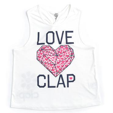 (CLAP)  DIA  HEART  NGI  TANK ホワイト