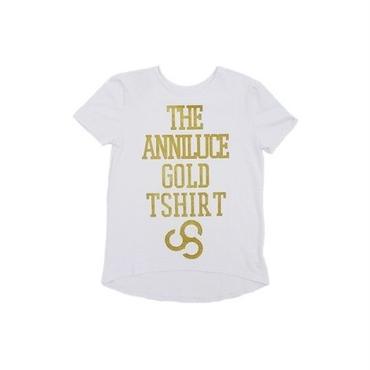 (ANNILUCE)  ゴールドロゴトップ ホワイト