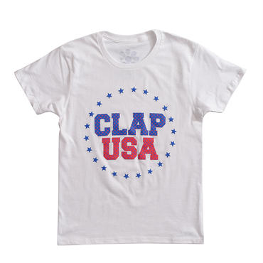 (CLAP)  CLAP  USA  Tee ホワイト