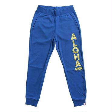 (CLAP)  ALOHA CLAP  SWEAT PANTS ブルー