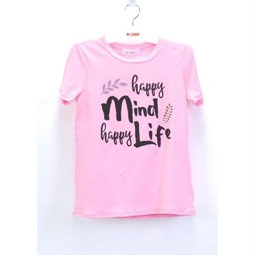 (MY  LAND)   HAPPY MIND Tシャツ  PINK