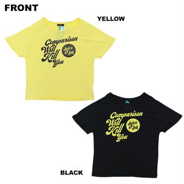 (JUICE OF JOY )   フロントロゴ Tシャツ  BLACK  YELLOW  Sサイズ