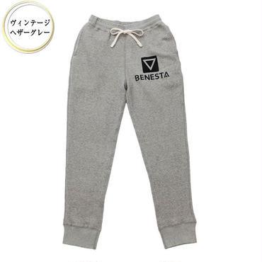 (BENESTA)  point  logo  sweat  pants ヴィンテージヘザーグレー