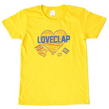 (CLAP)  LOVE  CLAP  Tee イエロー