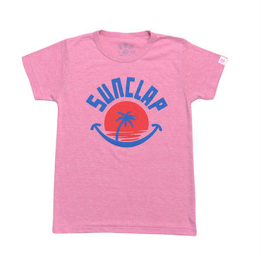 (CLAP)  SUN  CLAP  Tee ピンク