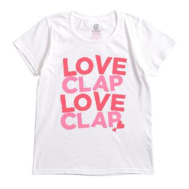 (CLAP)  LOVE  CLAP×2  Tee ホワイト