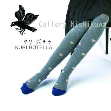 Kuri Botella クリボテラ タイツ「Azami」dark gray