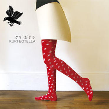 Kuri Botella クリボテラ タイツ「CHIDORI」Red