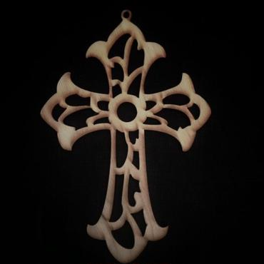木製モチーフ Cross