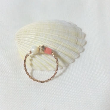 chain ring☆coral