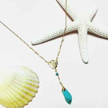 14kgf☆turquoise necklace