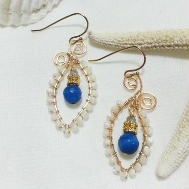hoop pierce☆mother of pearl