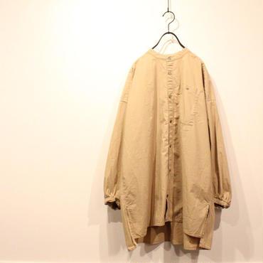 UT180SH068 ミストワッシャー加工 バンドカラーロングシャツ
