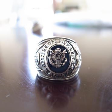 US Army Ring 約16号 アンティーク カレッジリング