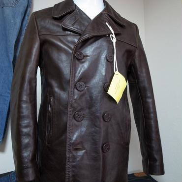 Schott leather P coat 日本サイズL程度 used