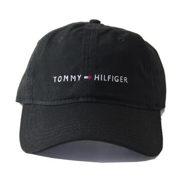 TOMMY HILFIGER / LOGO  6PANEL COTTON CAP  black C81787600