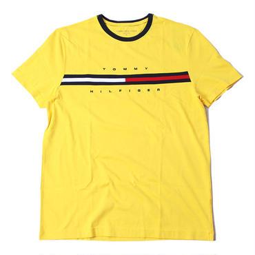 TOMMY HILFIGER FLAG  LOGO TEE yellow