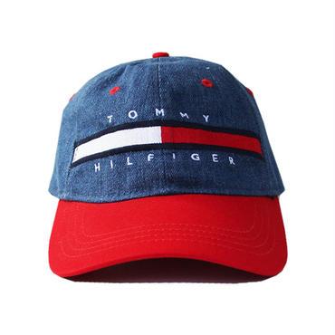TOMMY HILFIGER / DENIM CAP denim red