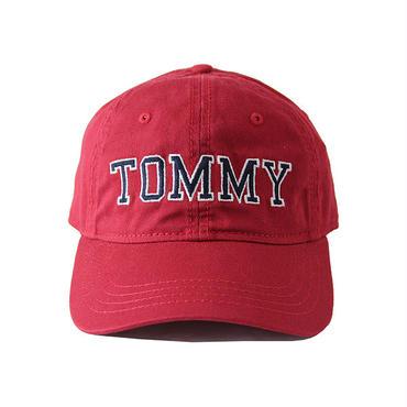 TOMMY HILFIGER /TOMMY  LOGO COTTON CAP  burgundy OTCAP1004