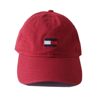TOMMY HILFIGER / LOGO COTTON CAP burgundy 78BI292