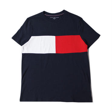 TOMMY HILFIGER LOGO COLOR DRY T SHIRT navy/white/red