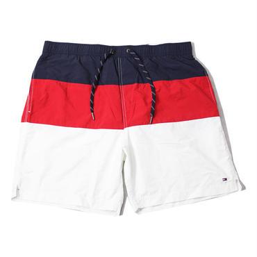 TOMMY HILFIGER / NYLON SWIM SHORT navy/red/white