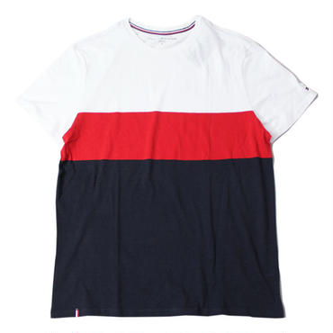 TOMMY HILFIGER SWITCH  LOGO TEE white/red/navy