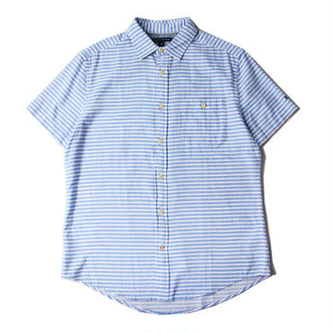 TOMMY HILFIGER / BORDER S/S SHIRTS blue/white