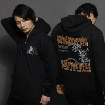 【R-TYPE 】「DOPKERATOPS」Zip-Up Hooded Sweatshirt
